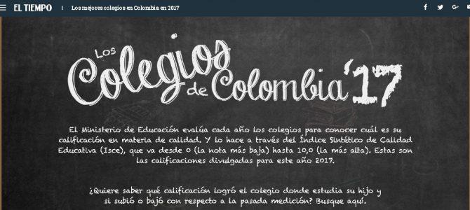 El Liceo Nuevo Chile entre los mejores colegios de Colombia